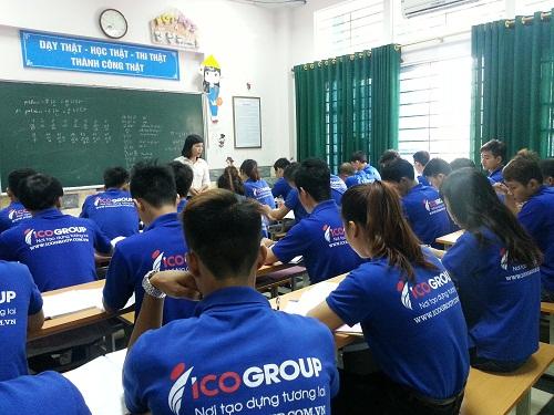 Các bạn du học sinh Hàn Quốc trong một buổi học tiếng Hàn tại ICOGroup