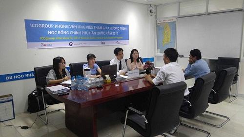 Ban lãnh đạo ICOGroup phỏng vấn ứng viên tham gia chương trình Học bổng chính phủ Hàn Quốc 2017