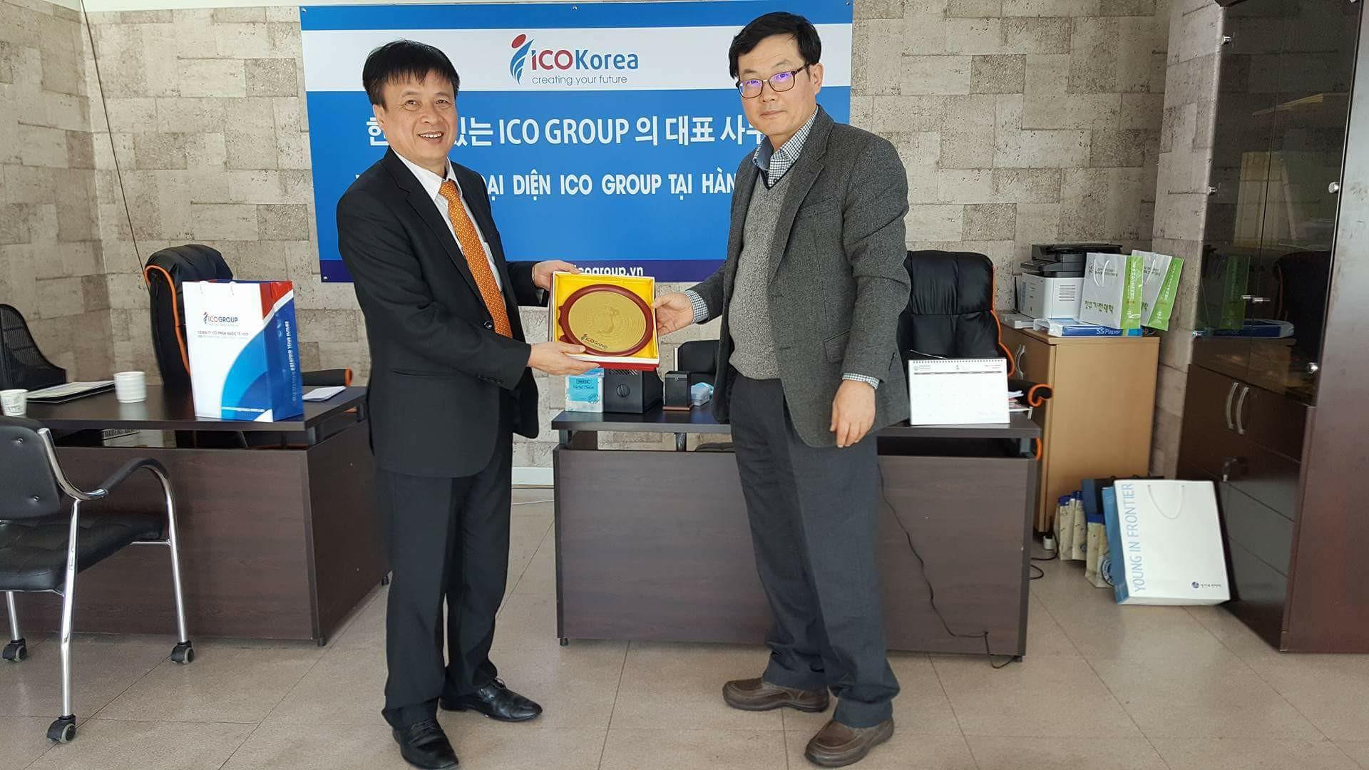 Ban lãnh đạo ICOGroup sang thăm ICO Korea – Văn phòng đại diện của ICOGroup tại Hàn Quốc