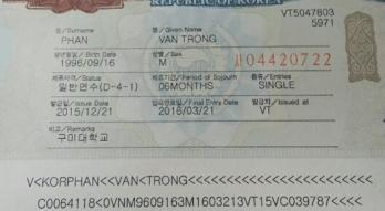 Các loại Visa liên quan đến du học sinh tại Hàn Quốc